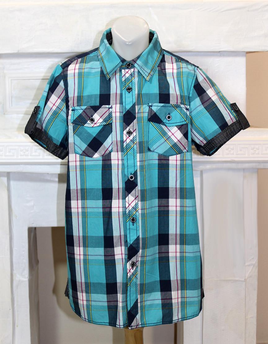 Детская рубашка для мальчика с коротким рукавом
