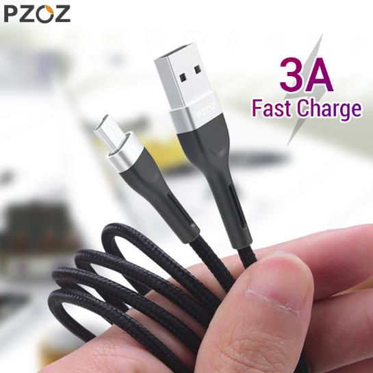 PZOZ кабель для зарядки и передачи данных MICRO USB быстрая зарядка 5V 3А QC 3.0 Android Samsung Xiaomi