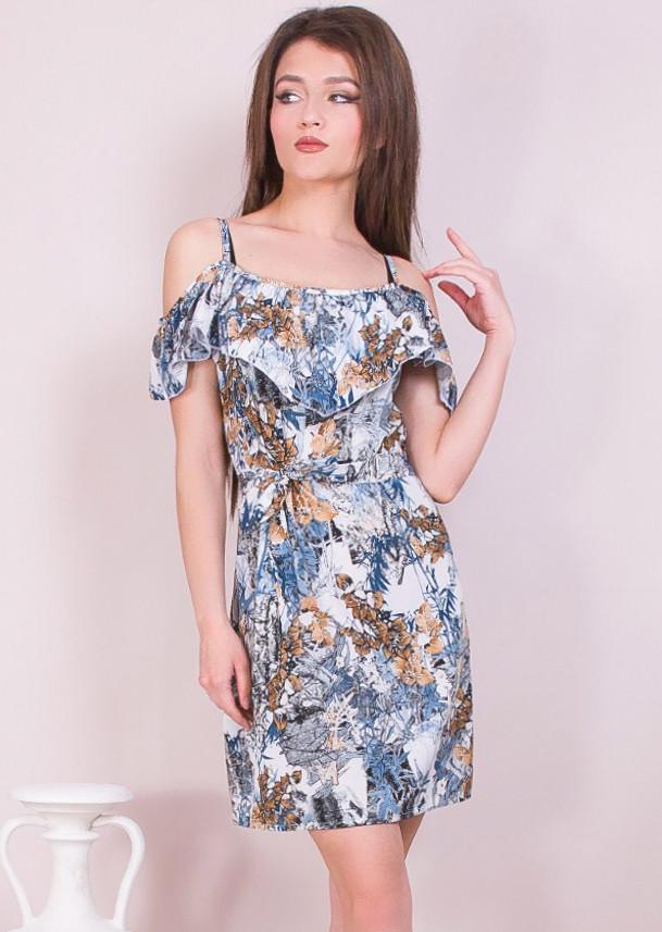 Платье с абстрактным рисунком 42-48