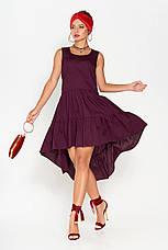 Жіноче асиметрична плаття на літо 44-52рр., фото 2