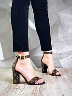 Эксклюзивные женские кожаные босоножки на удобной колодке Olimpia, фото 1