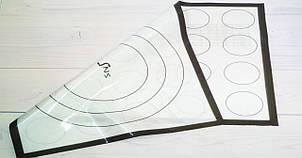 Силиконовый коврик с разметкой для макаронс