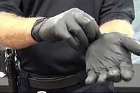 Перчатки нитриловые черные (набор 10 пар), фото 1