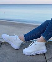 Кроссовки женские 10 пар в ящике белого цвета 35-40 повторы |36-2|37-3|38-2|, фото 3