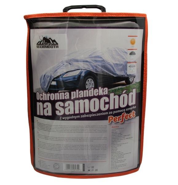 Чехол-тент на автомобиль серый, размер L (1,5x4,35x1,37м) MAMMOOTH  Perfect (трехслойный)
