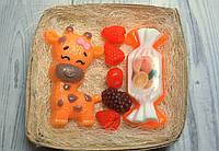 """Набор детского мыла """"Жираф, конфетка и ягодки"""""""