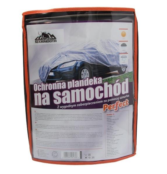 Чохол-тент на автомобіль сірий, розмір XL (1,5x4,8x1,37м) MAMMOOTH Perfect (тришаровий)