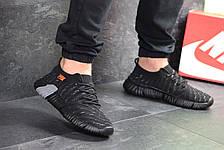Мужские текстильные кроссовки Nike,черные с серым  43,44,45р, фото 2