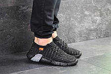 Мужские текстильные кроссовки Nike,черные с серым  43,44,45р, фото 3