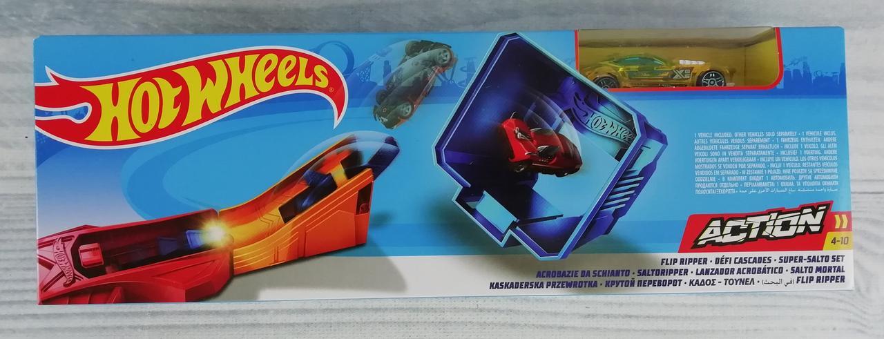 Трек Hot Wheels В коробке Action Крутой переворот FTH83 Mattel