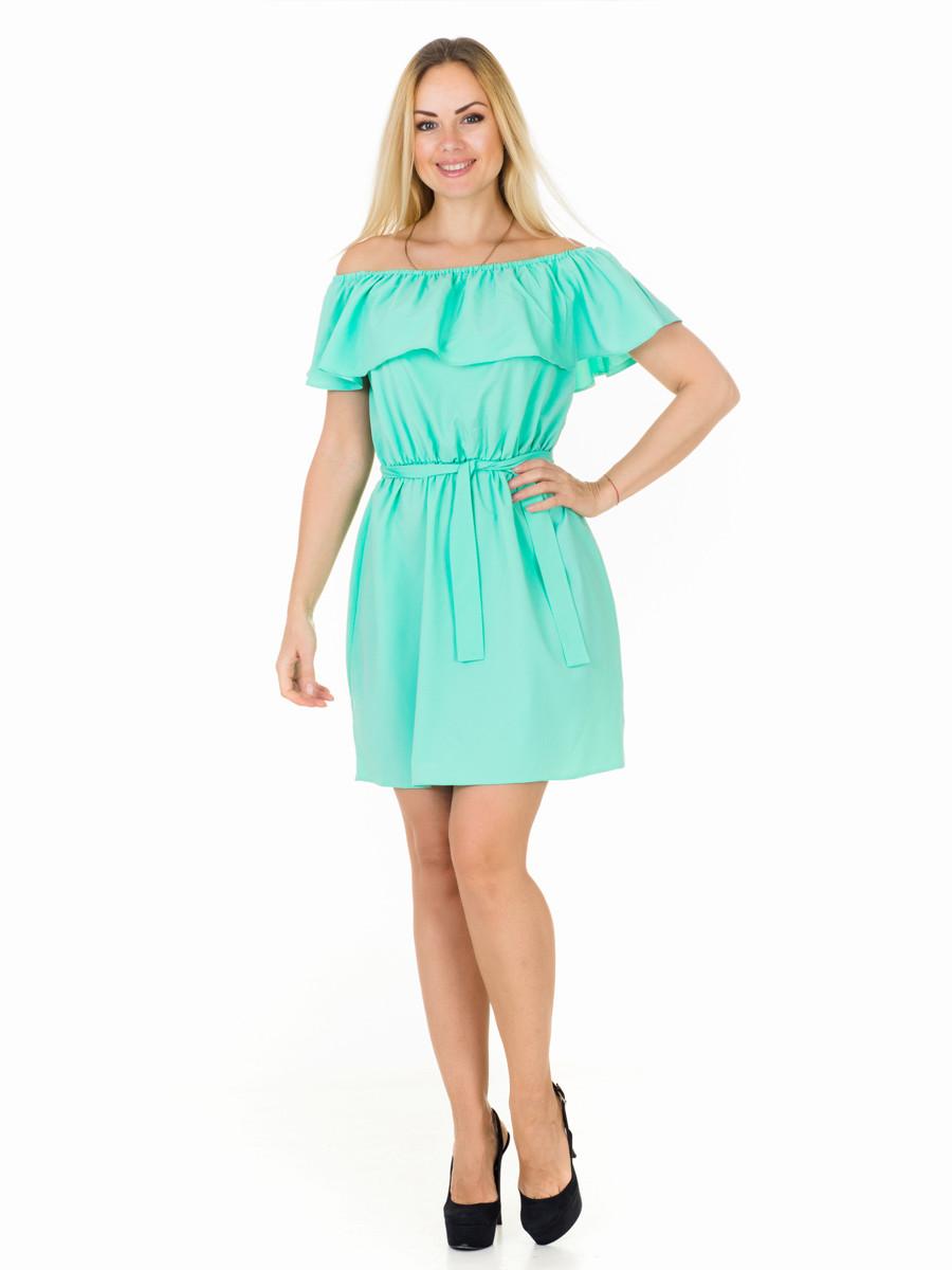 Женское платье с воланом PR7703