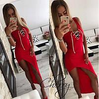 """Летнее платье """"Шлейф"""" / вискоза / Украина 28-157, фото 1"""