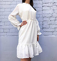 Платье женское ажурное (белое)