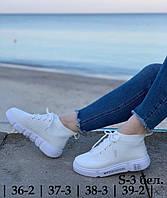 Кроссовки женские 10 пар в ящике белого цвета 36-39 повторы |36-2|37-3|38-3|39-2|, фото 1