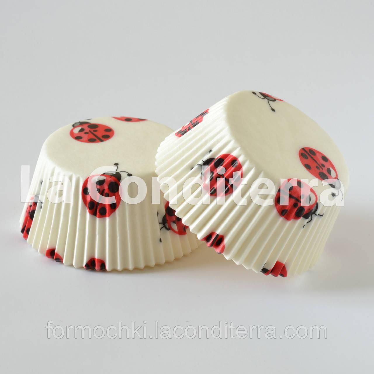Формы для кексов «Божьи Коровки» (Ø50 мм), мин. партия от 2000 шт.