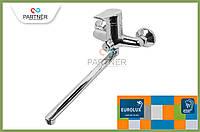 Смеситель для ванной PREMIUM-L  длинный гусак (006), EURO переключение душа EUROLUX