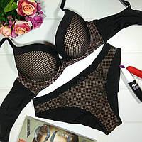 Комплект женского нижнего белья с эффектом пу  ш ап Balaloum 9365, черный, фото 1
