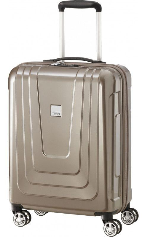 Пластиковый чемодан малый Titan X-RAY Ti700806-40 40 л, бежевый