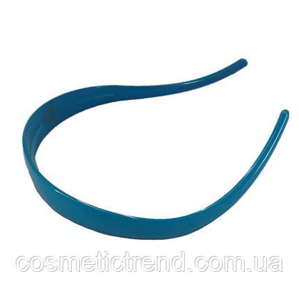 Обруч для волос голубой глянцевый (Франция), фото 2