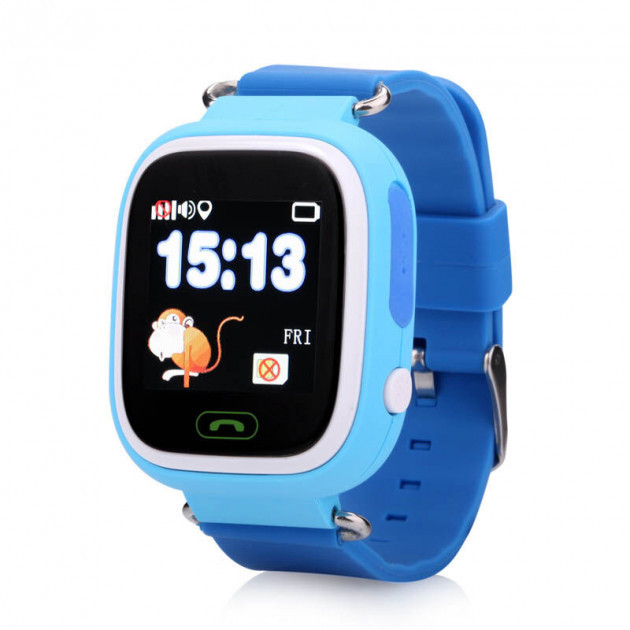 Детские умные часы-телефон с GPS трекером Baby Smart Watch Q90s Original Голубые