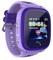 Детские водонепроницаемые умные часы-телефон с GPS трекером Baby Smart Watch Q300s (DF25) Original Фиолетовые