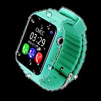 Детские умные часы-телефон с GPS трекером Baby Smart Watch V7K Original Зеленые