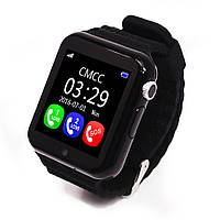 Детские умные часы-телефон с GPS трекером Baby Smart Watch V7K Original Черные
