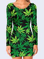Платье женское 3D Cannabis