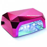 Гибридная лампа Diamond 36W LED+CCFL для маникюра (полимеризации гель-лака, геля) Малиновая