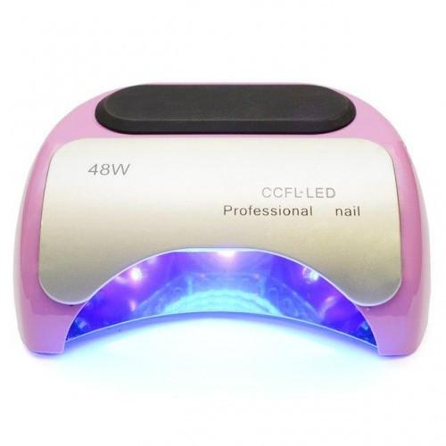 Гибридная лампа Professional 48 W CCFL+LED для маникюра (полимеризации гель-лака, геля) Розовая