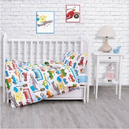 Комплект постельного белья (поплин) Городское движение,  в кроватку