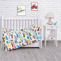 Комплект постельного белья (поплин) Городское движение,  в кроватку, фото 1