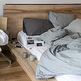 Однотонное постельное белье микс Серый  и Белый, поплин Lux, разные размеры, фото 2