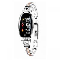 Умный фитнес-браслет женский Smart Band Pro H8 Original Серебро