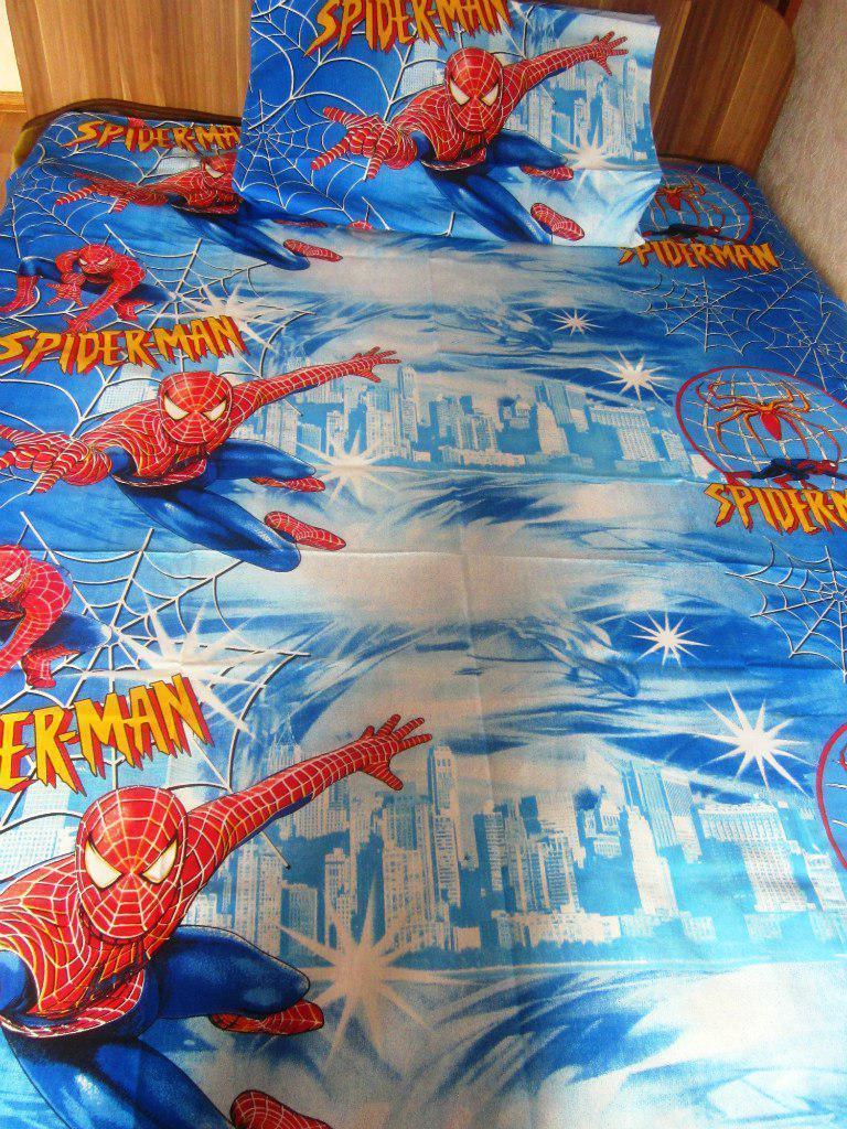 Комплект постельного белья  для мальчиков Спайдермен,  Человек паук