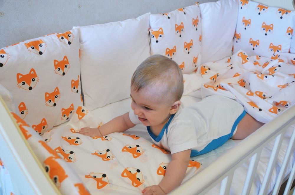 Комплект постельного белья в кроватку  Лисички