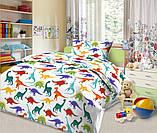 Комплект постельного белья Дино-пати,  в  детскую кроватку, фото 4