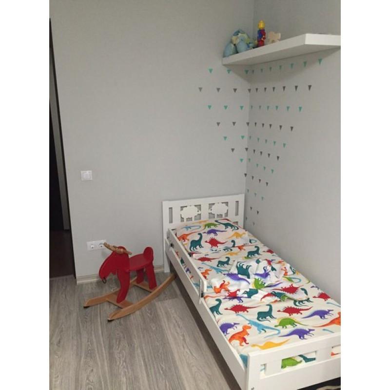 Комплект постельного белья Дино-пати,  в  детскую кроватку