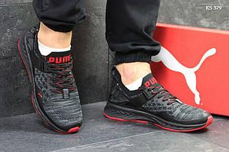 Мужские кроссовки Puma Ignite Evoknit красно-чёрные