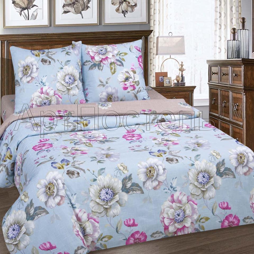 Комплект постельного белья Ева, поплин, разные размеры