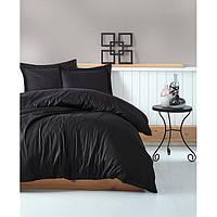 Постельное белье Страйп-сатин Черный, Турция, разные размеры, фото 1