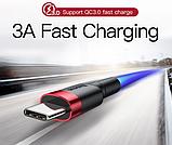 Оригінальний кабель Baseus для швидкої зарядки і передачі даних USB Type-C 3А Q. C 3.0 Колір червоний 0,5 метра, фото 2