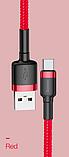 Оригінальний кабель Baseus для швидкої зарядки і передачі даних USB Type-C 3А Q. C 3.0 Колір червоний 0,5 метра, фото 6