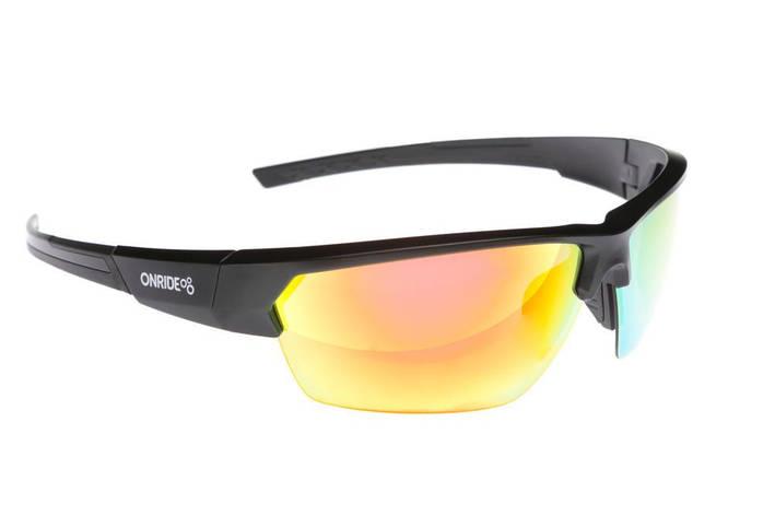 Окуляри ONRIDE Spok матовий чорний з лінзами RedREVO/Clear/Orange, фото 2
