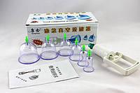 Вакуумные (массажные) банки для домашней терапии - 6 шт.