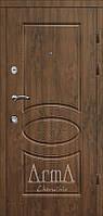 Двери входные Арма орех темный тип 3 модель 303 улица