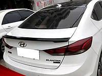 Спойлер крышки багажника Hyundai Elantra 2016-2018 г.в. ABS пластик, фото 1