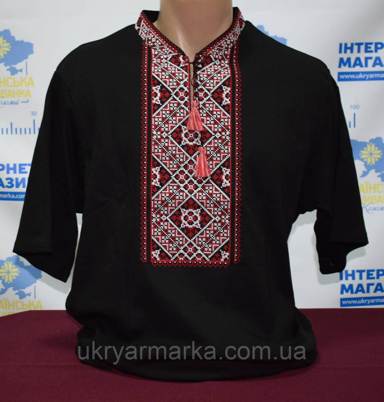 """Вишита футболка """"Ярослав"""" чорна"""