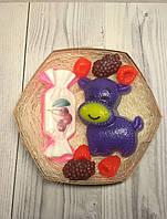 """Набор детского мыла """"Бегемотик , конфетка и ягодки"""""""