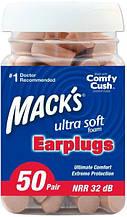 Беруши из мягкой пены Mack's Ultra Soft, 50 пар